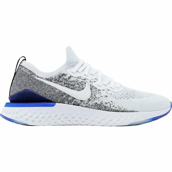 人気アイテム ナイキ メンズ スニーカー シューズ Epic React Flyknit 2 Running Shoe - Men's White/White-Black-Racer Blue, カヅノグン b7cb56c9
