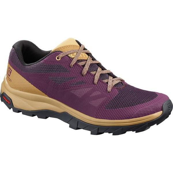 【予約販売品】 サロモン レディース スニーカー シューズ Outline Hiking Shoe - Women's Potent Purple/Bistre/Taos Taupe, Ffactory d7e117fc