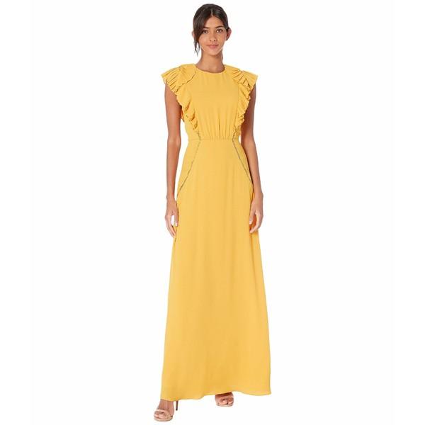 都内で Ruffle ビーシービージーマックスアズリア レディース Golden Evening Glow Gown Shoulder ワンピース トップス-スーツ