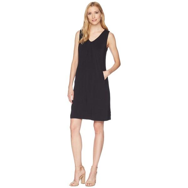 トリバル レディース ワンピース トップス V-Neck Jersey Dress with Pockets Black