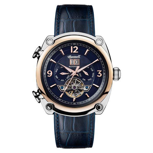 高級感 インガーソルウォッチ Strap メンズ 腕時計 アクセサリー Ingersoll Ingersoll Multifunction Michigan Automatic Multifunction Leather Strap Watch, 45mm Blue/ Rose, シマムセン:c27b902a --- chevron9.de