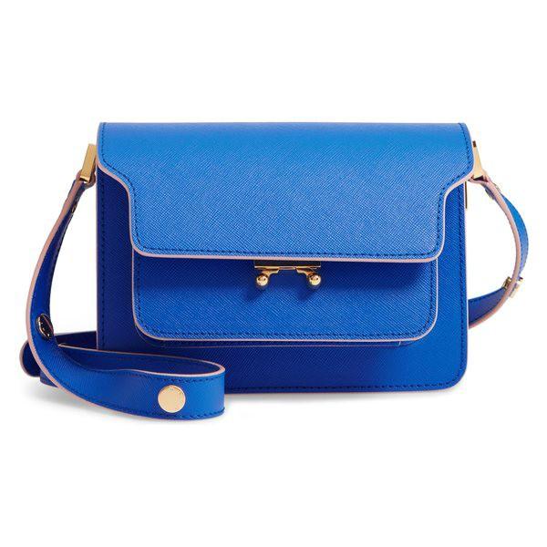 品質満点 マルニ レディース ハンドバッグ バッグ Trunk Marni Small Trunk Leather Marni Shoulder バッグ Bag Mazarine Blue/ Dune, 鉾田町:2d6753a6 --- chevron9.de