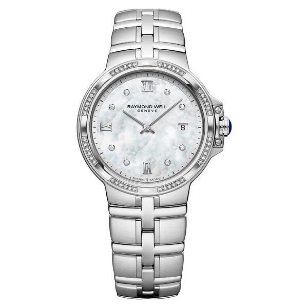 新しいコレクション レイモンドウェイル レディース 腕時計 アクセサリー Raymond Weil Parsifal Diamond Bracelet Watch, 30mm Silver/ Mop/ Silver, カンオンジシ d56d8fcf