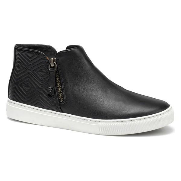最も完璧な トラスク レディース スニーカー シューズ Trask Lana Sneaker Bootie (Women) Black Leather, デックマーケット 1d5c441d