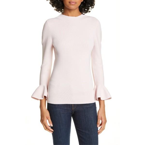 【安心発送】 テッドベーカー レディース ニット&セーター アウター Ted Baker London Brinlo Frill Sleeve Sweater Dusky Pink, Wonderful Moments e996c502
