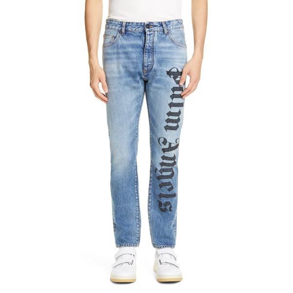 人気満点 パーム・エンジェルス メンズ カジュアルパンツ Jeans (Light ボトムス Light Palm Angels Needled Logo Jeans (Light Wash) Light Wash, grand A(グランエー):dca993e2 --- 1gc.de