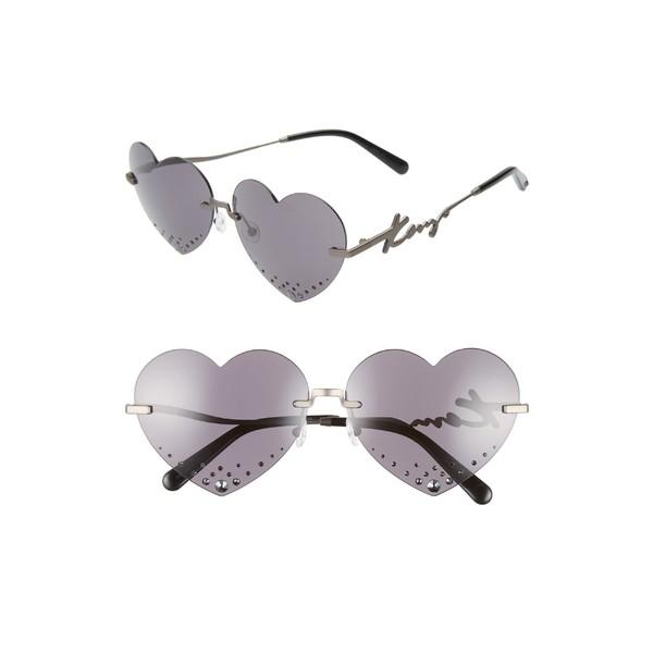 【予約受付中】 ケンゾー レディース サングラス&アイウェア Rimless アクセサリー KENZO 63mm Sunglasses Oversize Rimless Matte Heart Sunglasses Matte Dark Ruthenium/ Smoke, 値札館:ec0c47a5 --- united.m-e-t-gmbh.de