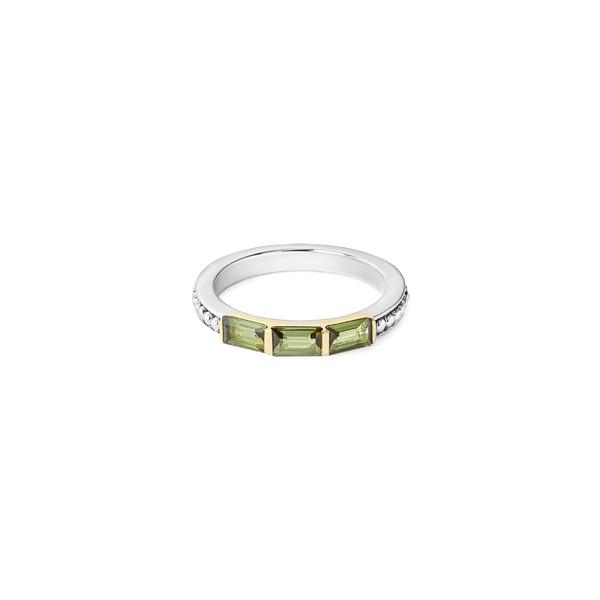 魅力的な ラゴス Baguette レディース リング アクセサリー LAGOS Gemstone Stackable Baguette Stackable Silver/ Ring Silver/ 18k Gold/ Tourmaline, アキグン:9fd1be25 --- stunset.de