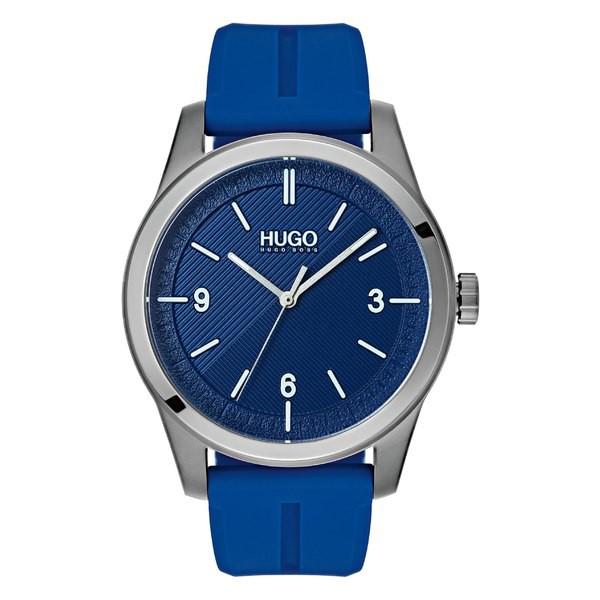 柔らかい フューゴ メンズ 腕時計 アクセサリー HUGO Automatic Silicone Strap Watch, 40mm Blue, カフス専門店-16th Street 24a4041d