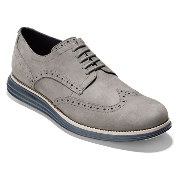 【中古】 コールハーン メンズ ドレスシューズ シューズ Grand' Cole Haan 'Original Grand' Haan Ironstone Wingtip (Men) Ironstone Nubuck, ラグビーノ:f00fc5e9 --- buergerverein-machern-mitte.de