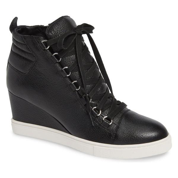 【通販激安】 Leather Sneaker Linea シューズ Paolo リネアパウロ レディース Fenton Black Wedge (Women) Tumbled スニーカー-靴・シューズ
