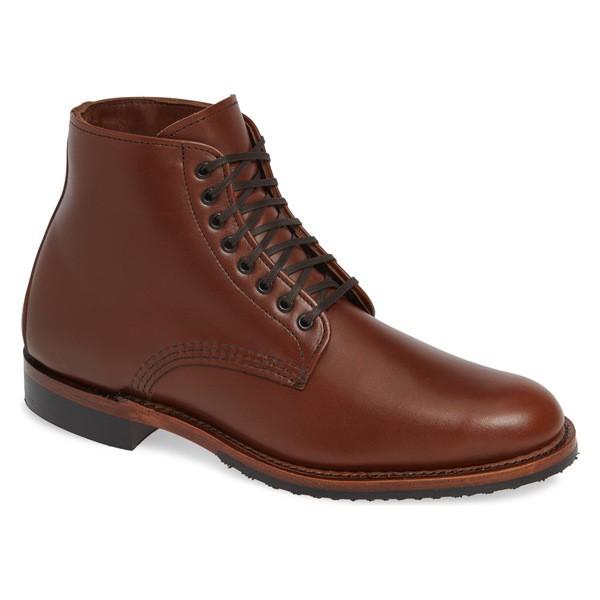 【数量は多】 レッドウィング メンズ ブーツ&レインブーツ シューズ Red Wing Williston Plain Toe Boot (Men) Teak Leather, ノーブルゴルフ 5b561736