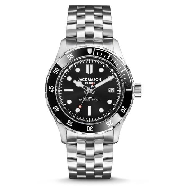 格安販売の ジャックメゾン メンズ 腕時計 Bracelet メンズ アクセサリー Automatic Jack Mason Diving Automatic Bracelet Watch, 42mm Silver, フジノネットショップ:0993c45e --- chevron9.de