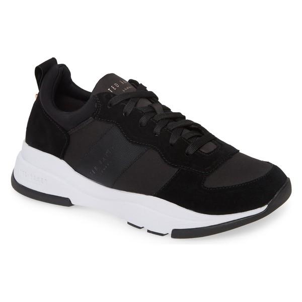 低価格で大人気の テッドベーカー レディース スニーカー シューズ Ted Baker London Waverdi Sneaker (Women) Black Satin/ Suede, and luce interior 3a382505