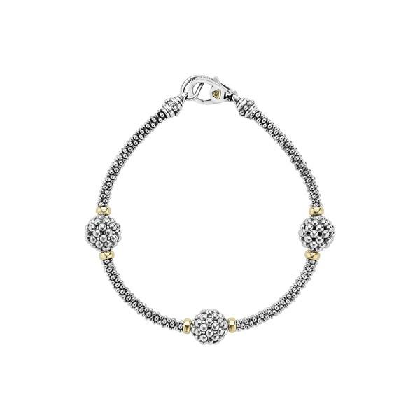 【即納】 ラゴス レディース ブレスレット・バングル・アンクレット アクセサリー LAGOS 'Caviar Forever' Ball Station Bracelet Silver/ Gold, Hectarz b5b1d392