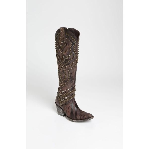 割引クーポン ブーツ&レインブーツ 'Belinda' Chocolate Old シューズ オールドグリンゴ Boot Gringo Leather レディース-靴・シューズ