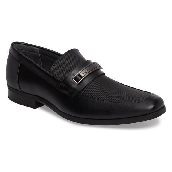 超ポイントアップ祭 カルバンクライン メンズ スリッポン Calvin・ローファー シューズ メンズ Calvin Klein Jameson Emossed (Men) Loafer (Men) Black Leather, GLOBAL SESSION INTERNET SHOPPING:16c0fdba --- stunset.de