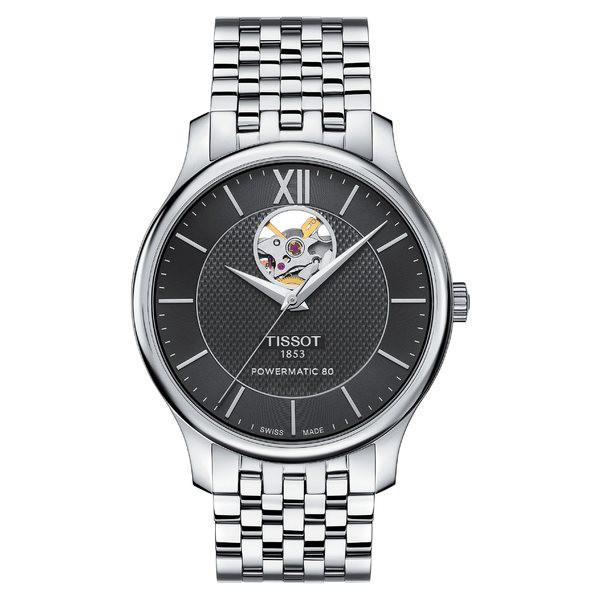 人気商品の ティソット レディース 腕時計 アクセサリー Tissot Tradition Bracelet Watch, 40mm Silver/ Black/ Silver, インテリアショップNANA 1834845f