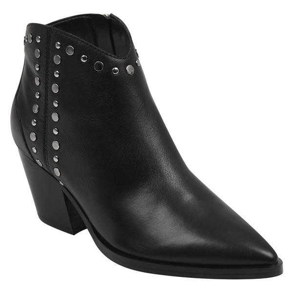 高級素材使用ブランド マーク・フィッシャー レディース ブーツ シューズ&レインブーツ シューズ Marc Fischer LTD Deni LTD Deni Studded Bootie (Women) Black Leather, 岡本製麺:8ab59ff2 --- buergerverein-machern-mitte.de