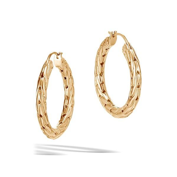 【2019正規激安】 ジョン・ハーディー レディース Hoop Chain Earrings ピアス&イヤリング アクセサリー John Hardy Classic Chain Small Hoop Earrings Gold, 大きいサイズ服 なでしこ:3734793d --- paderborner-film-club.de