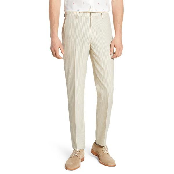 新作 ボノボス メンズ ボトムス カジュアルパンツ ボトムス Bonobos Jetsetter Slim Fit Flat Flat Front Front Suit Trousers Khaki Seersucker, ハワイアンショップ ハウオリ:660d71b0 --- schongauer-volksfest.de
