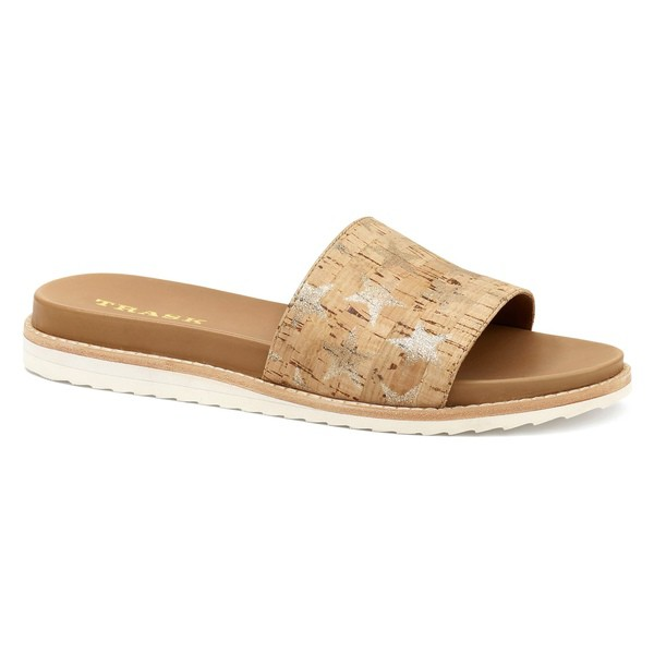 【史上最も激安】 トラスク レディース (Women) サンダル Gold Sandal シューズ Trask Sherry Slide Sandal (Women) Natural/ Gold Leather, かばんのミヤモト:c6eb29cc --- paderborner-film-club.de