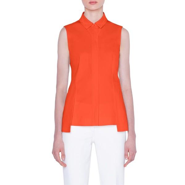 【高価値】 アクリス Poplin レディース カットソー トップス カットソー Akris Peplum トップス Cotton Poplin Shirt 362-Poppy, 高柳町:2c4f22aa --- 1gc.de