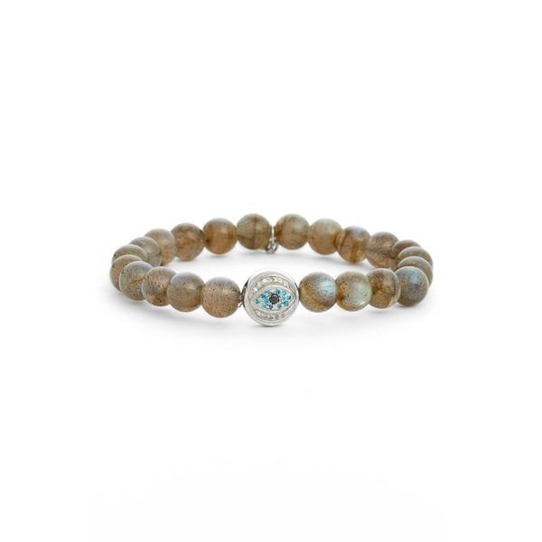 魅了 アンジー Bead レディース アンジー ブレスレット・バングル・アンクレット アクセサリー Anzie Boheme Boheme Labradorite Bead Bracelet Silver, シャリグン:990e6303 --- chevron9.de