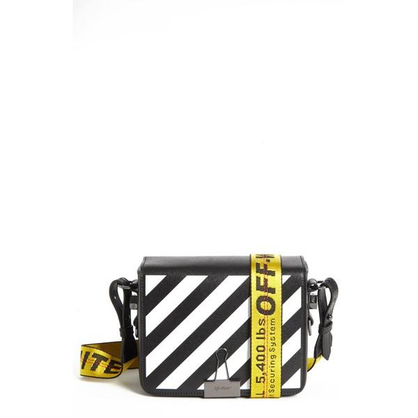 【50%OFF】 オフホワイト レディース ハンドバッグ バッグ Off-White Black Diagonal Off-White バッグ Stripe Mini Flap Bag Black White, エープラスリビング ソファ:88465780 --- chevron9.de