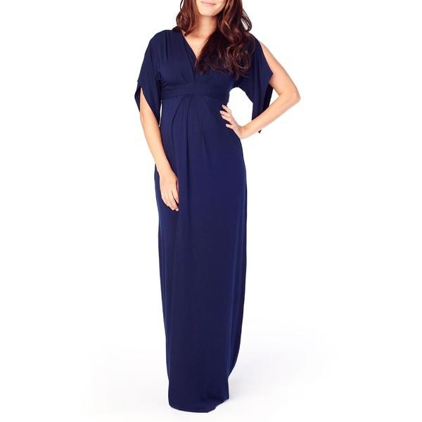 2019年最新入荷 Sleeve & トップス レディース ワンピース Navy True Ingrid Maternity Isabel イングリッドアンドイザベル Split Dress Maxi-スーツ