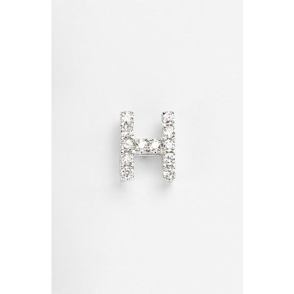 安い購入 ボニー レヴィ レディース ピアス&イヤリング Earring アクセサリー Bony Bony Levy アクセサリー Single Initial Earring (Nordstrom Exclusive) White Gold/ H, 富村:56f4cfc1 --- ai-dueren.de