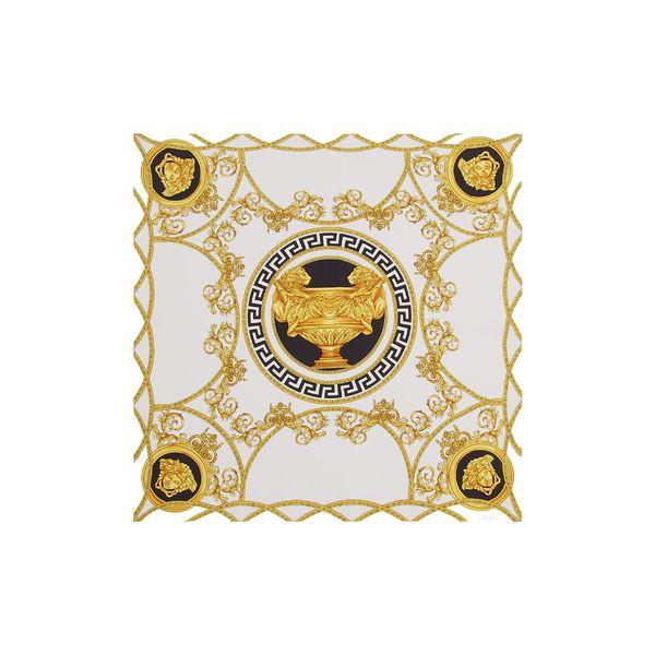 春先取りの ヴェルサーチ レディース マフラー・ストール・スカーフ アクセサリー Versace First Line La Coupe des Dieux Silk Scarf White/ Gold, 古平町 3a192f28