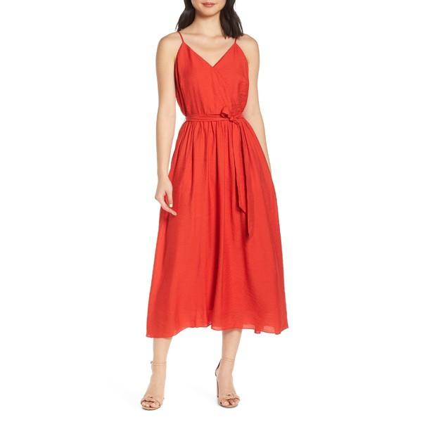 [定休日以外毎日出荷中] チェルシー28 Midi レディース ワンピース トップス Dress Chelsea28 Faux Wrap チェルシー28 Midi Dress Red, 京都きものづくり:2e684746 --- chevron9.de