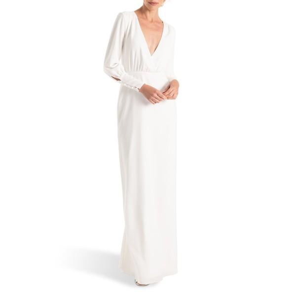 【楽天カード分割】 レディース Joanna オーガスト August トップス White Column Sleeve Dress Page ジョアナ Long Wedding ワンピース-スーツ