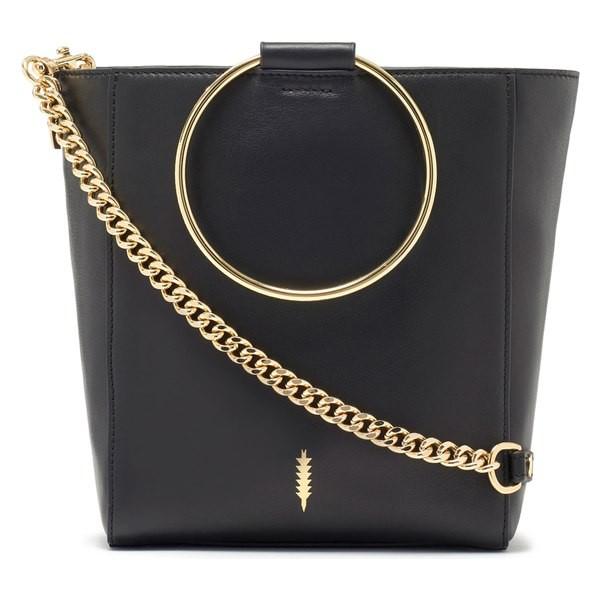 最高の品質 タッカー レディース ハンドバッグ Black/ バッグ Bag THACKER Le ハンドバッグ Bucket Leather Bag Black/ Gold, ペットグッズショップ橋本:a5aa1018 --- chevron9.de