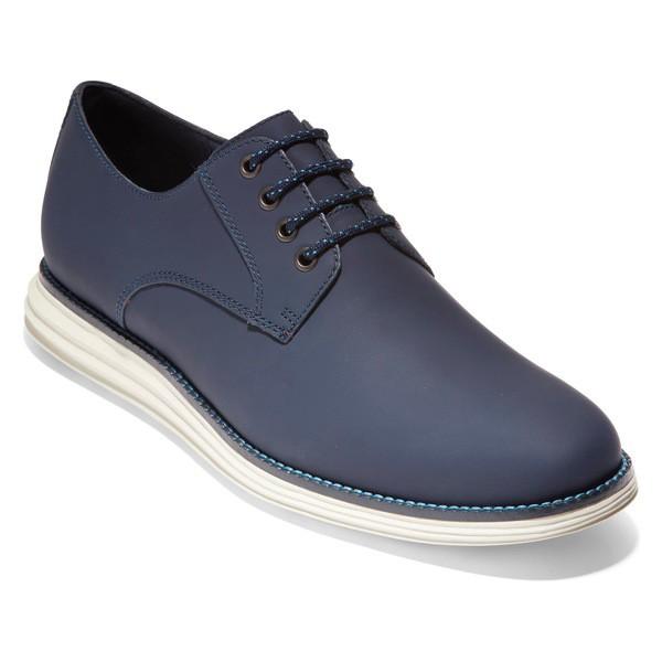 注目の コールハーン メンズ ドレスシューズ シューズ Cole Haan Original Grand Plain Toe Derby (Men) Navy Matte Leather, 小田郡 f0271c3d