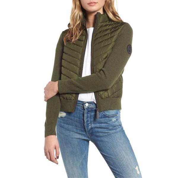 割引購入 ジャケット&ブルゾン Sage Dark アウター Jacket カナダグース Quilted レディース & Hybridge Knit Goose Canada-アウター