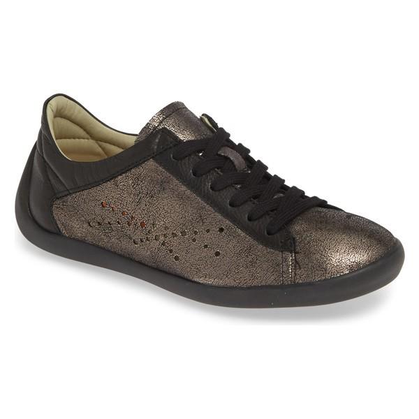 低価格の ソフチノス レディース スニーカー シューズ Softinos by Fly London Nie Perforated Low Top Sneaker (Women) Graphite/ Black Leather, IFC e-shop 7b70bbec