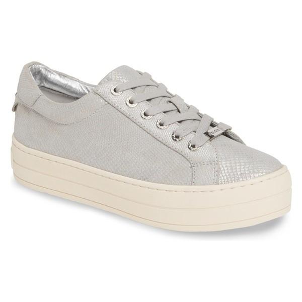 人気絶頂 ジェースライズ Sneaker Hippie (Women) シューズ JSlides Silver レディース Leather Platform スニーカー-靴・シューズ