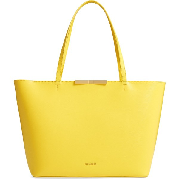 魅力的な価格 テッドベーカー Light レディース Ted トートバッグ バッグ Ted Baker London Joycee London Bow Detail Leather Shopper Light Yellow, Office WOW!:3e6cf08f --- chevron9.de