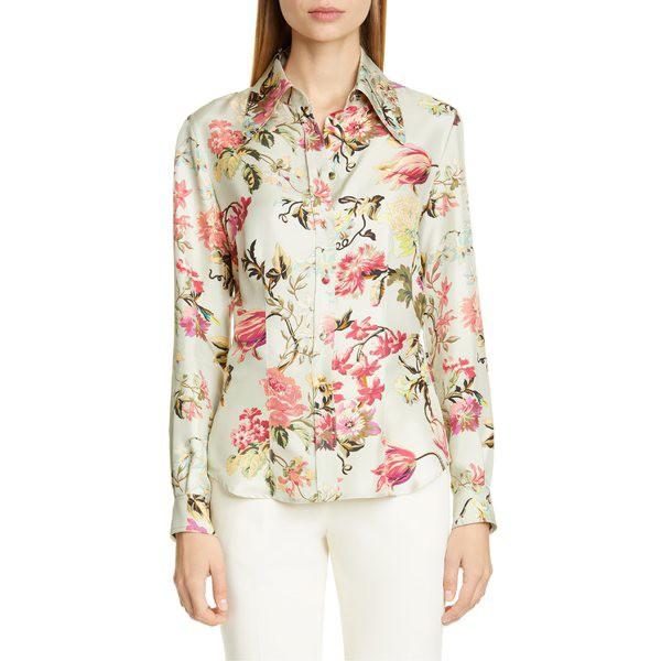 珍しい エトロ レディース カットソー トップス Etro Floral Print Silk Blouse White, 愛媛フルーツショップ段々畑 a7bf18b4