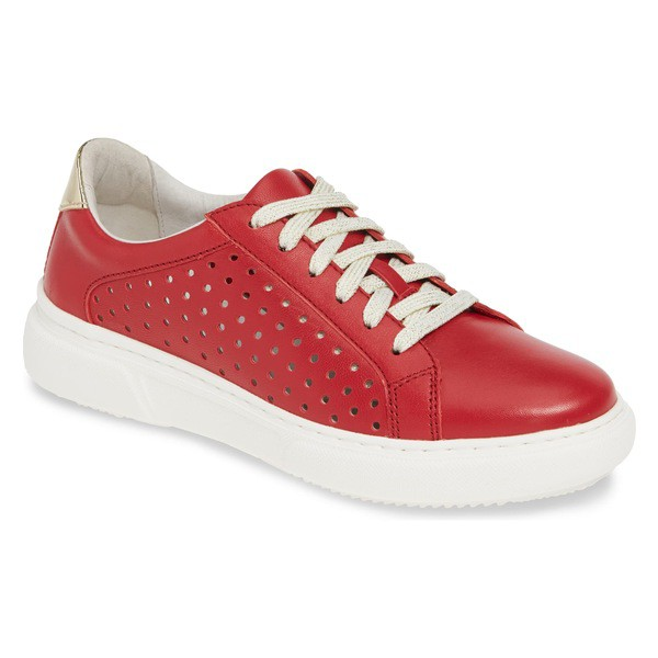 数量限定価格!! ジョンストンアンドマーフィー & レディース スニーカー シューズ シューズ Johnston & Murphy Nora Perforated Sneaker Sneaker (Women) Red Leather, Ade-jo:dff141da --- oeko-landbau-beratung.de