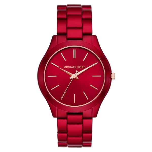 【はこぽす対応商品】 Red Michael アクセサリー Runway Bracelet Slim Watch, マイケルコース 腕時計 メンズ 42mm Kors-その他腕時計