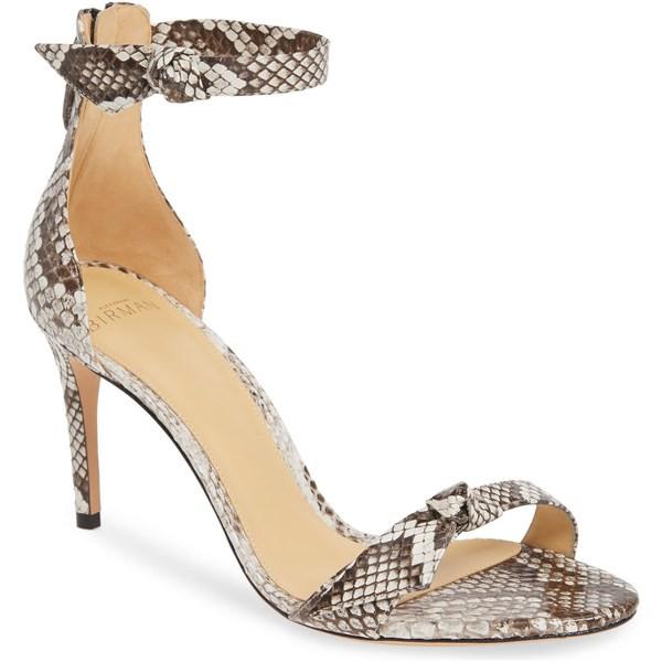入園入学祝い アレクサンドラバードマン Natural レディース サンダル シューズ Alexandre Birman Clarita Genuine Python Birman Python Ankle Tie Sandal (Women) Natural P, アイピリカ:f3b8dd33 --- kzdic.de