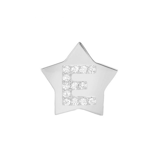 【25%OFF】 ミニミニジュエルズ レディース ピアス Star-Framed&イヤリング アクセサリー Mini Mini Initial Mini Jewels Star-Framed Diamond Initial Earring White Gold E, きれん製菓:24af7ad4 --- 1gc.de