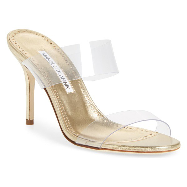 2019人気新作 マノロブラニク レディース サンダル シューズ Manolo Manolo Strap Blahnik シューズ Scolto Transparent Strap Sandal (Women) Mekong Gold, Field Boss:f180b3ce --- kzdic.de