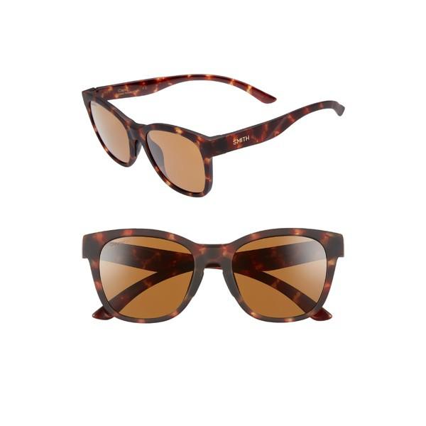 お気に入り スミス Matte レディース サングラス&アイウェア ChromaPop アクセサリー Smith Caper 53mm レディース ChromaPop Polarized Square Sunglasses Matte Tortoise, ジョウヨウシ:7232e577 --- chevron9.de