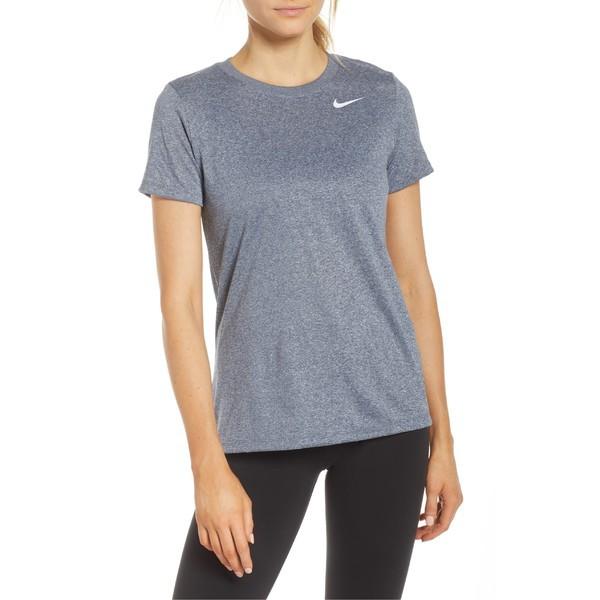 ナイキ レディース Tシャツ トップス Nike Dry Legend Training Tee Obsidian/ Heather