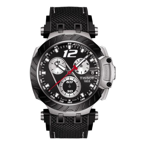 【完売】  ティソット メンズ 腕時計 アクセサリー Tissot T-Race Jorge Lorenzo Leather Strap Watch, 48mm Black/ Silver, Express Sinzo 2ad1f326