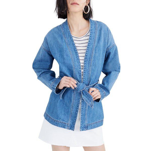 新規購入 Andover Denim メイドウェル Jacket ジャケット&ブルゾン Madewell アウター レディース Wrap Wash-アウター